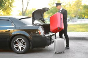 Chauffeur with suitcase