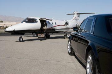 Black Limousine at Airport