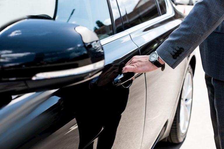 Opening the Lavish Limousine Car Door