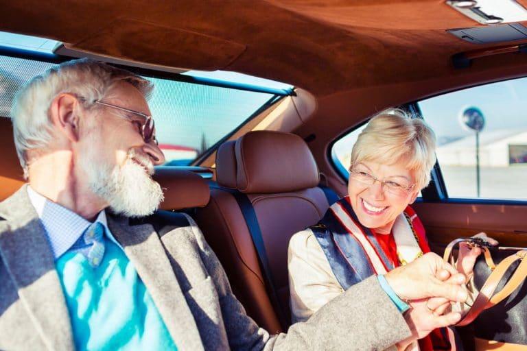 Seniors in Limousine