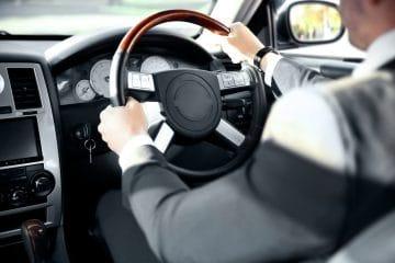 Chauffeur driving a car