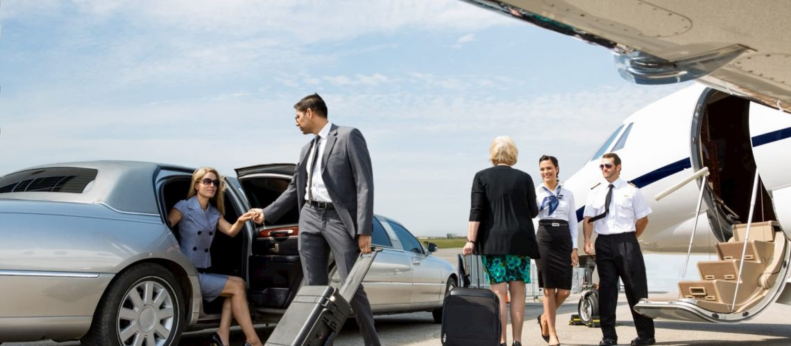 Limousine at the airport