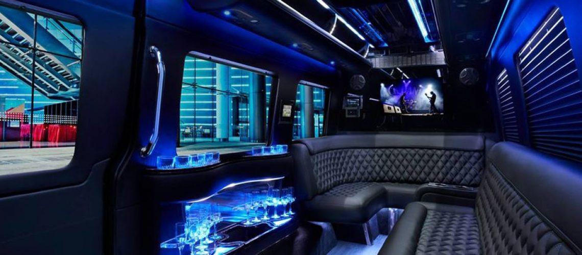 Inside Sprinter Limousine - Brisbane