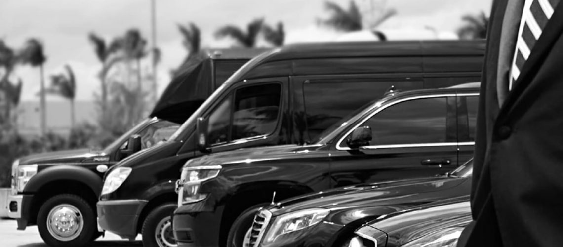 Fleet of limousines for airport transfers